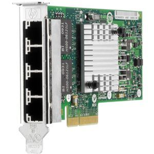 593722-B21HP NC365T NETWORK ADAPTER - PCI EXPRESS 2.0 X4 - 4 PORTS. NEW WITH BOTH BRACKET