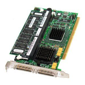 D9205 DELL D9205 PERC4 DUAL CHANNEL PCI-X ULTRA320 SCSI RAID CONTROLLER CARD WITH STANDARD BRACKET. SYSTEM PULL.